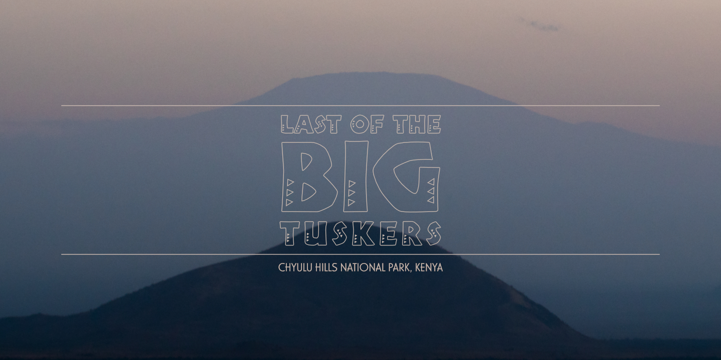 Last of the Big Tuskers – Title spot (Chyulu Hills National Park) © 2018 Umboko Productions
