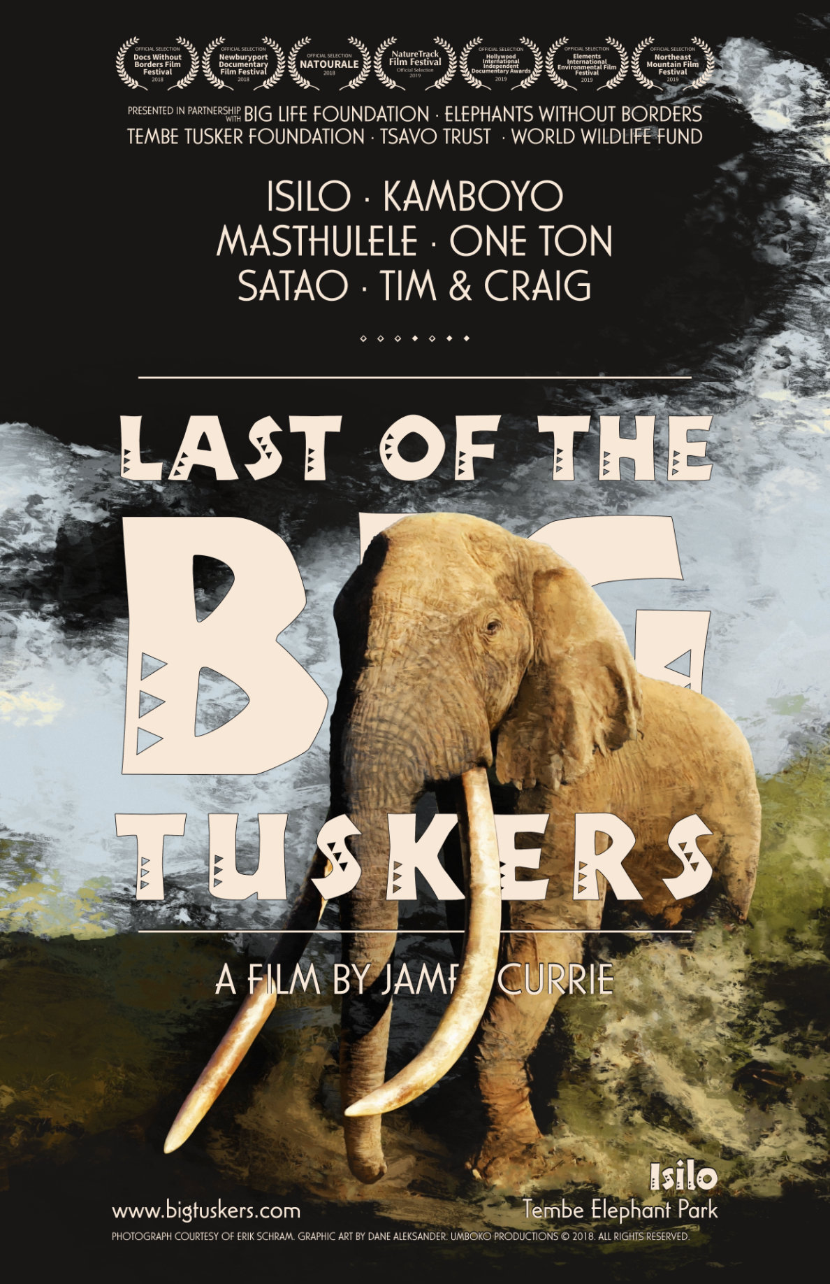 Last of the Big Tuskers – festival poster © 2018 Umboko Productions